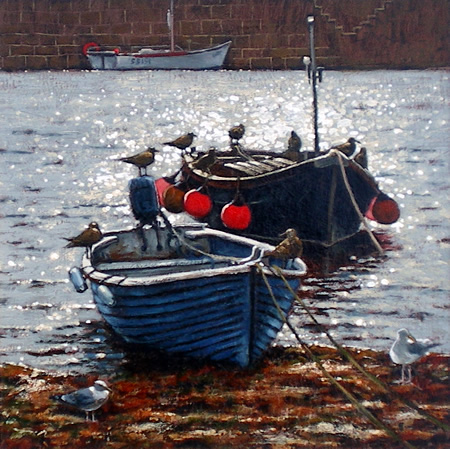 Boats and Gulls, Mousehole