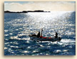 Painting of Bright Light Leaving Mousehole in Cornwall