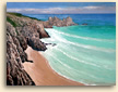 Painting of Porthcurno in Cornwall