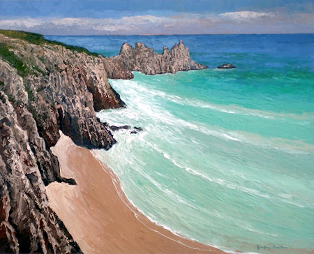 Porthcurno, towards Logan�s Rock