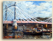 Painting of Albert Bridge in London