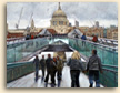 Painting of Saint Paul's Cathedral from the Millennium Bridge in London