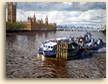 Painting of Thames from Lambeth Bridge in London