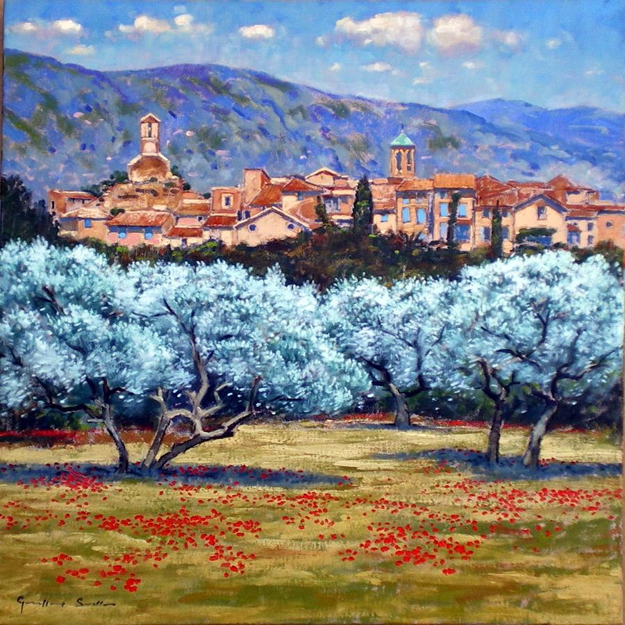 lourmarin provence provence paintings geoffrey smith