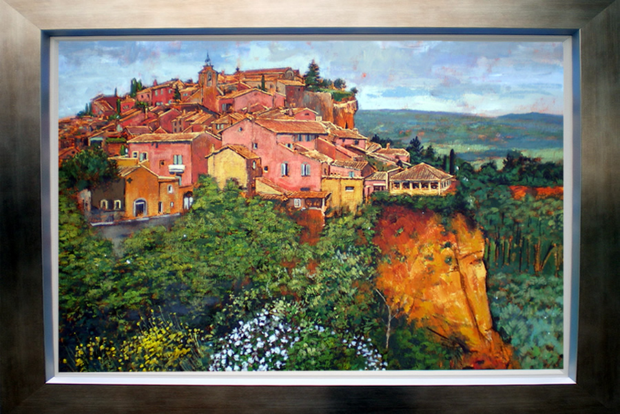 Roussillon Provence Paintings Geoffrey Smith