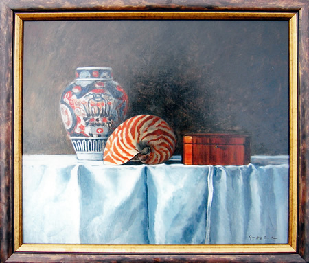 Still Life with Shell and Jar