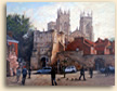 Painting of Bootham Bar in York