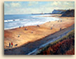 Painting of Sandsend looking towards Whitby on the coast of Yorkshire