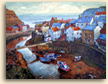 Painting of Staithes Beck from Cowbar in Yorkshire