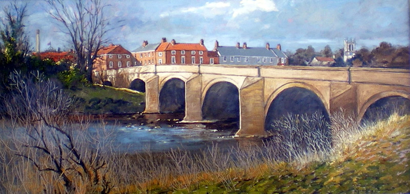 Tadcaster Bridge Spring Morning York Paintings